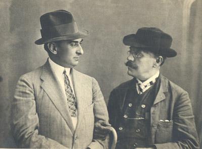 I.L.Caragiale şi Alexandru Davila (1910)