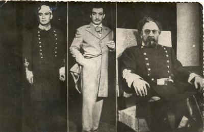 """George Vraca, trei ipostaze în """"Din jale se întrupează Electra"""" (1943?)"""
